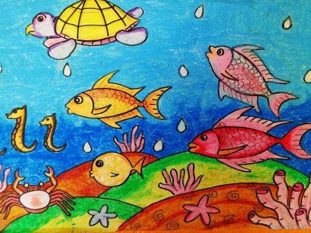 Lukisan Dari Crayon Atau Pastel Lukisan Dengan Menggunakan Crayon