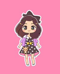 Kawaii Girl by Little Miss Paintbrush