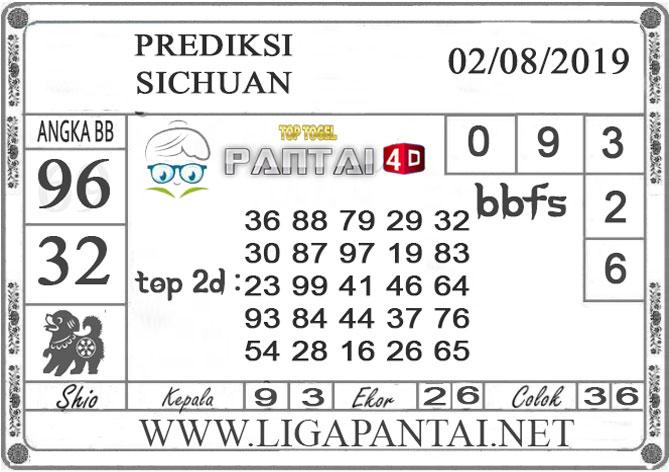"PREDIKSI TOGEL ""SICHUAN"" PANTAI4D 02 AGUSTUS 2019"