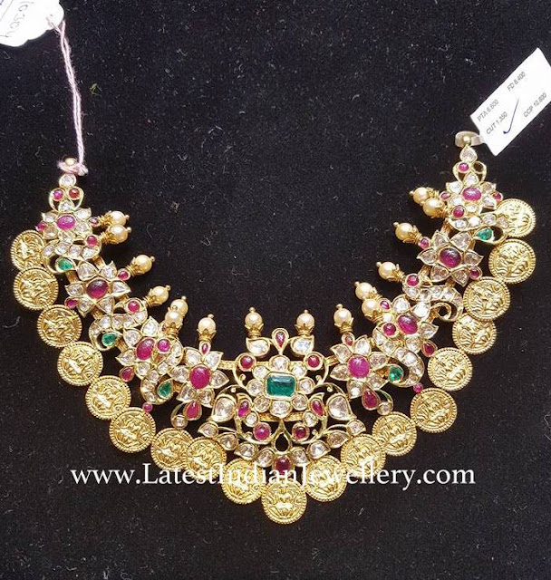 Kasu Drops Kundan Necklace