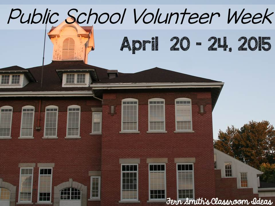 Tuesday Teacher Tips: Public School Volunteer Week Freebie Thank Yous from Fern Smith's Classroom Ideas,