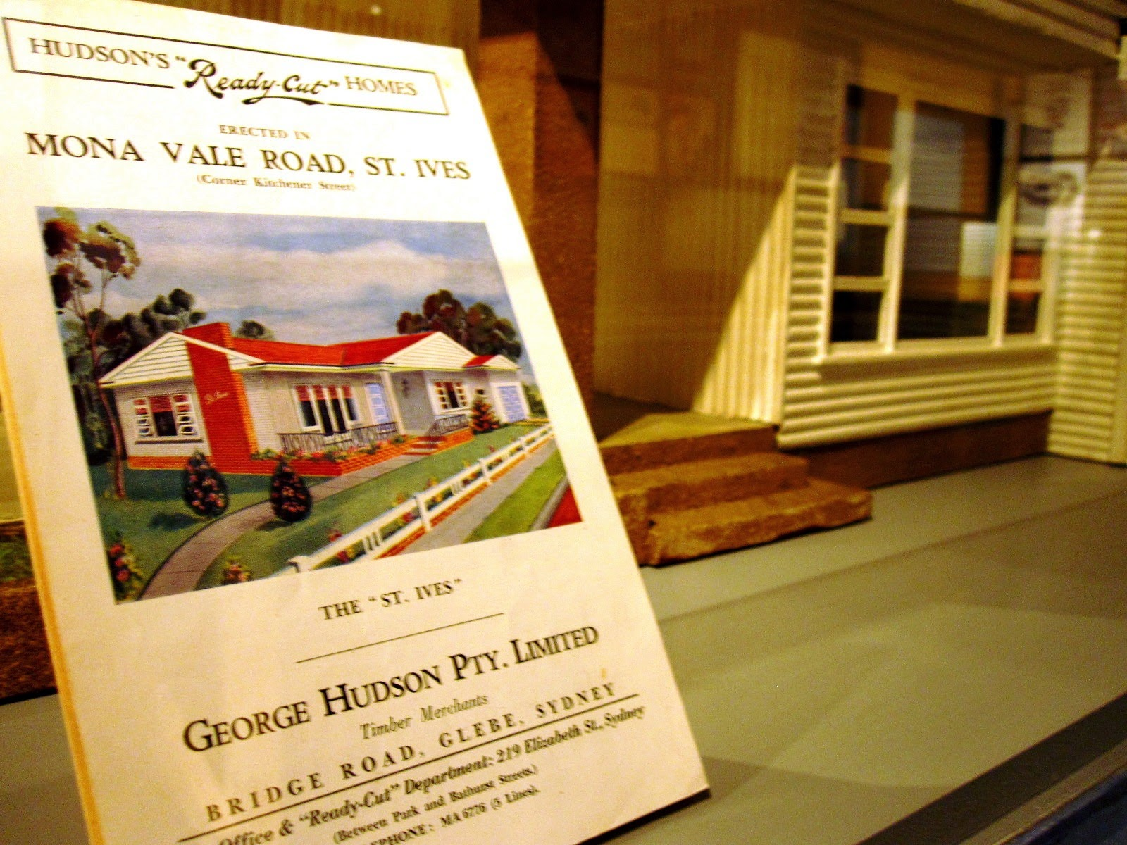 Original pamphlet for the house depicted by the  model 'St Ives' house in the exhibition 'Dream Home Small Home'