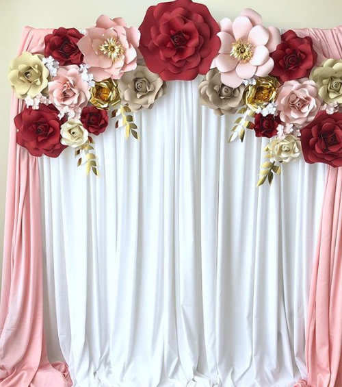 Backdrop Photobooth Pernikahan Elegan