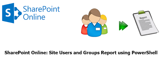 sharepoint online users and groups report using powershell
