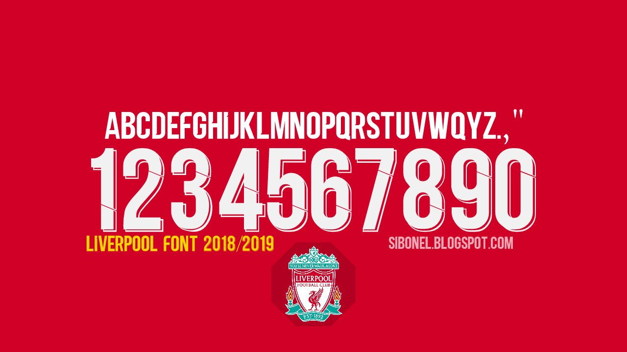 Download Font Jersey Liverpool 2019 - Blog Sibonel