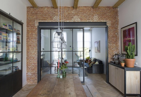 vosgesparis An industrial dream home X a steel wall divider by