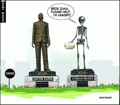 Jacob Zuma's Statue And Rochas Okorocha. By Reuben Abati