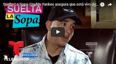 Daddy Yankee dice que está vivo por un milagro.
