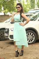 Manjusha in beautiful thin green gown At Jaya Janaki Nayaka le Logo Launch ~  Exclusive 126.JPG