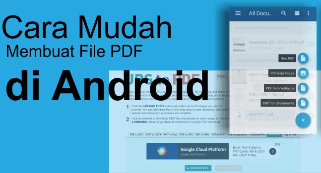 Cara Mudah Membuat File PDF di Android