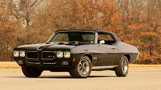 Valiant Black 1970 Pontiac LeMans GTO Front