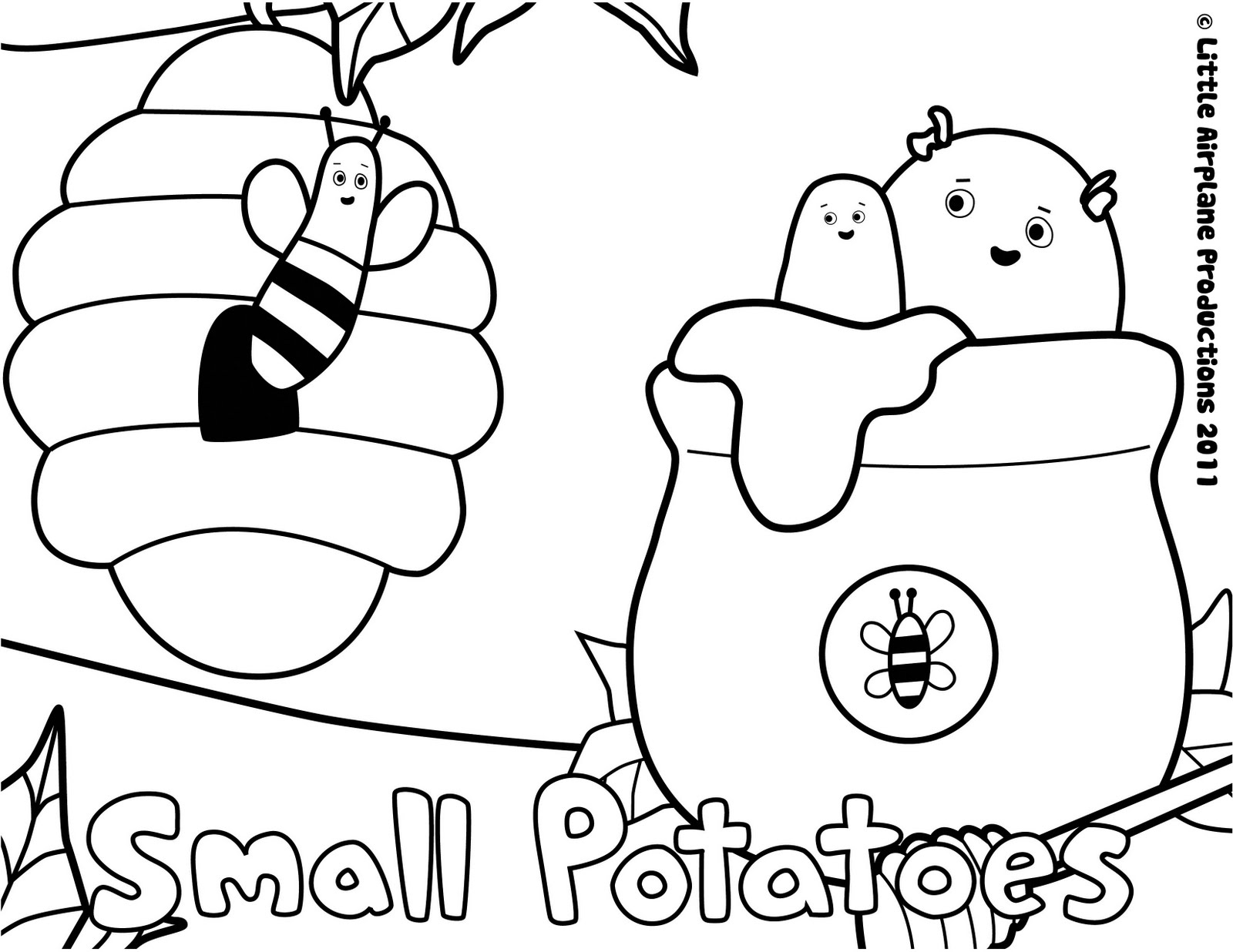 Erica Kepler: Small Potatoes Coloring Pages
