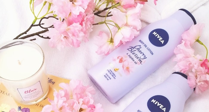 Review: NIVEA Cherry Blossom + Jojoba Oil Body Oil Lotion