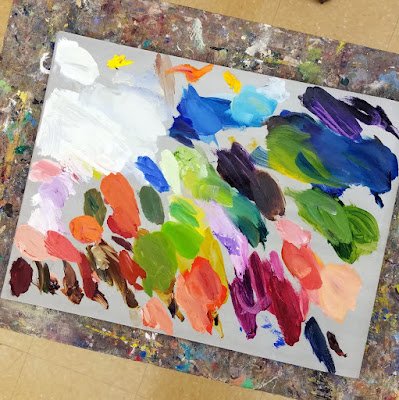 Tutorial My Palette How to Paint My Heart Remembers by Pennsylvania artist Merrill Weber