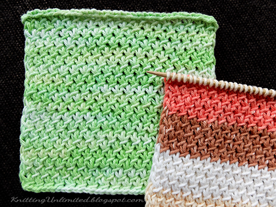 Purl-Twist Knitted Dishcloth