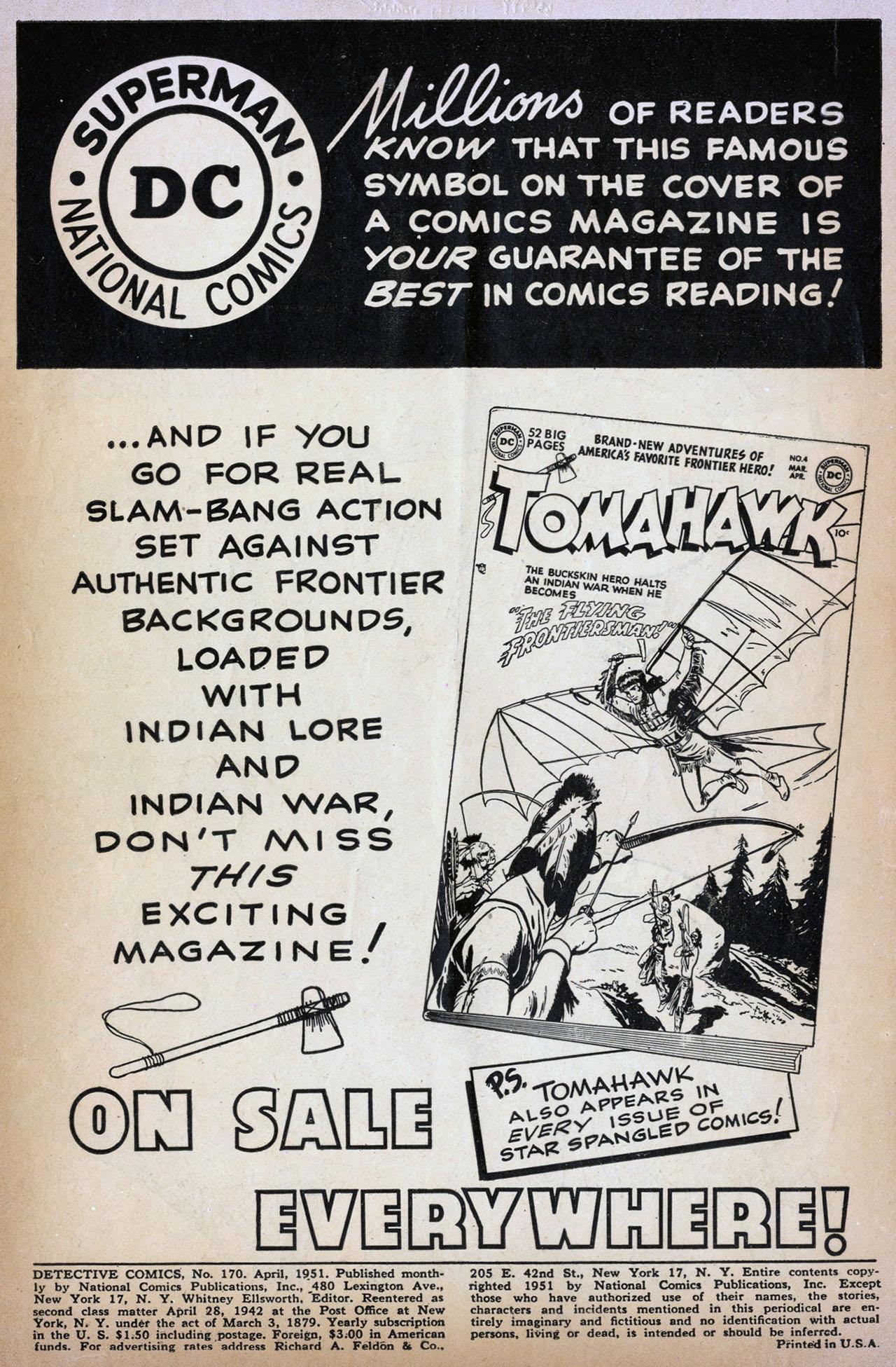 Read online Detective Comics (1937) comic -  Issue #170 - 2