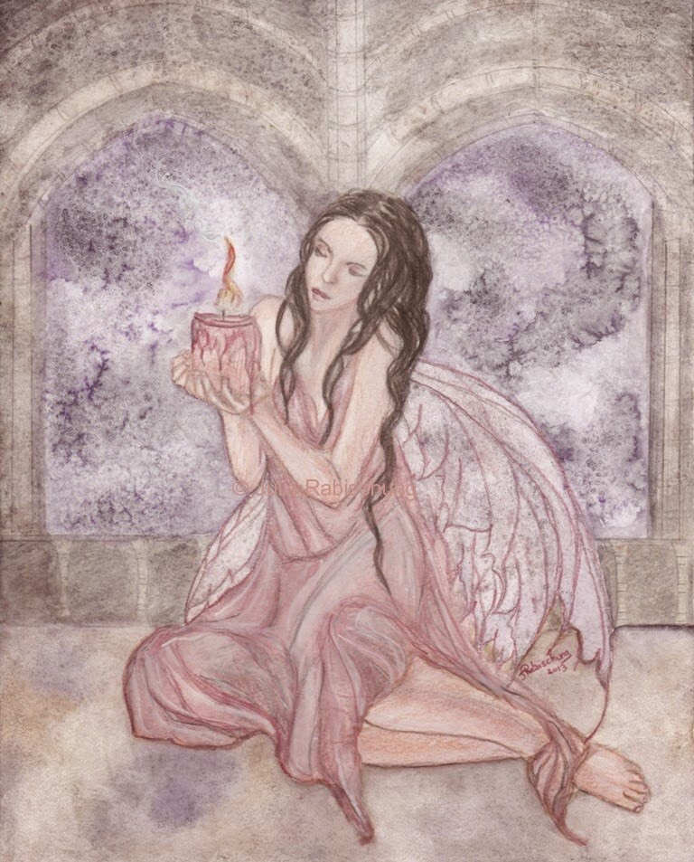 The Last Candle by Enchanted Visions Artist, Julie Rabischung