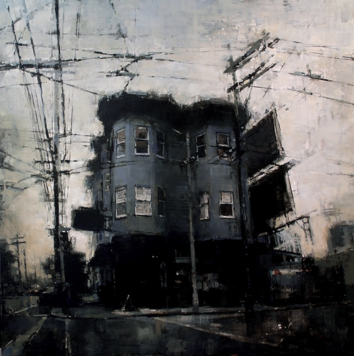 10-Bryant-Sreet-Bar-Jeremy-Mann-Figurative-Painting-in-Cityscapes-Oil-Paintings-www-designstack-co