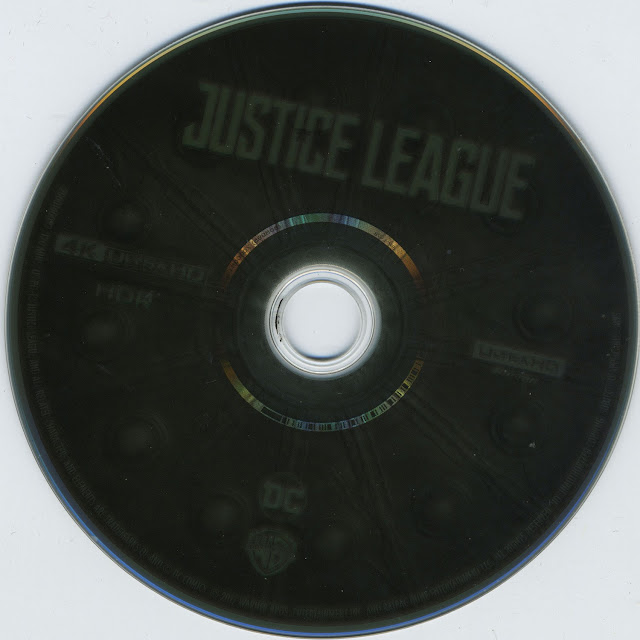 Justice League 4K Bluray Label