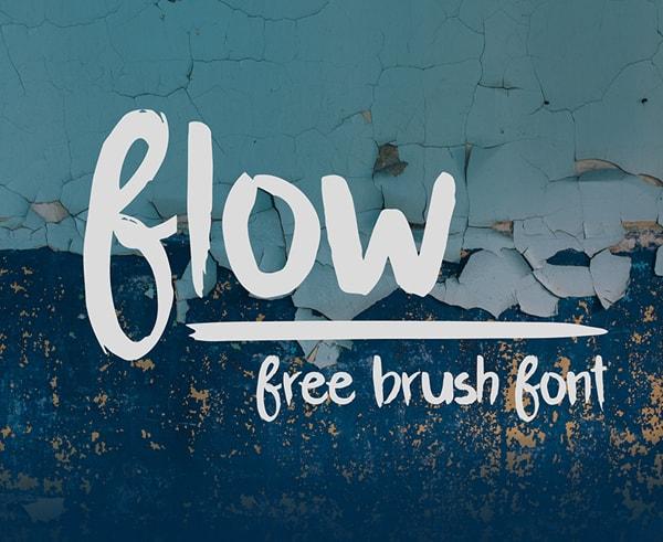 Brush font terbaik 2017 - Flow – Free Brush Font
