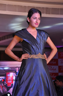 South Indian Celebrities Pos at Love For Handloom Collection Fashion Show  0031.jpg