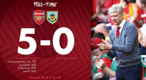 Arsenal vs Burnley 5-0 Highlights #ARSBURN