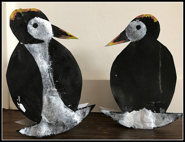 pingouins en peinture