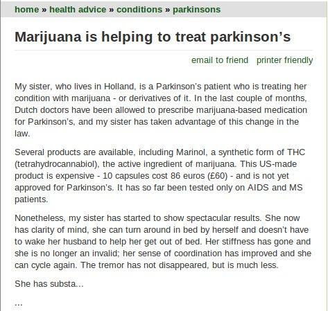Marihuana y Parkinson