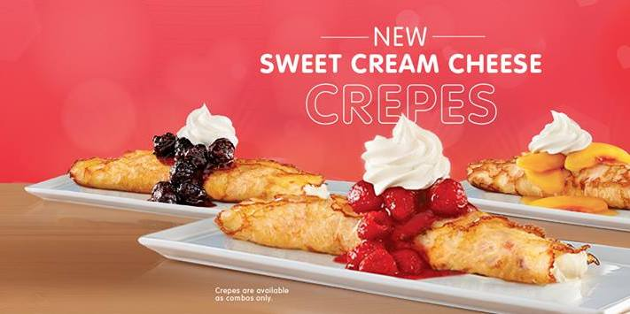 News Ihop New Sweet Cream Cheese Crepes Brand Eating