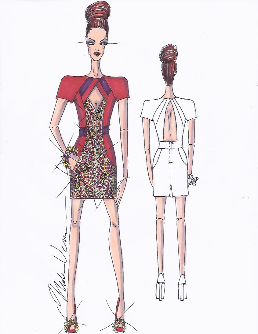 Nick Verreos Project Runway Project Runway For Lord Taylor My Dress Fashion Sketch
