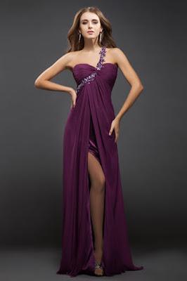 Robe violette accessoires