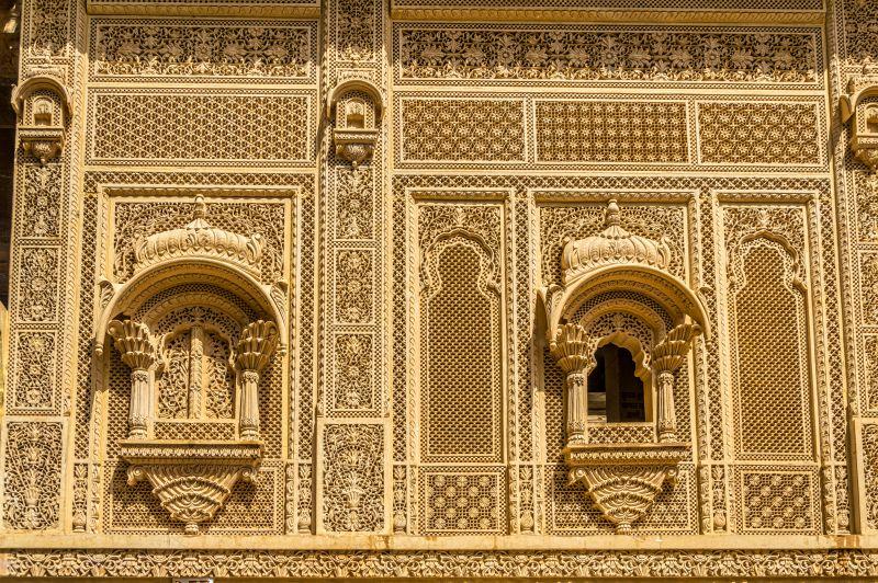 Beautiful carving at Laxmi Nath ji temple