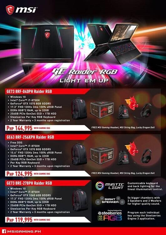 MSI GE Gaming Laptops