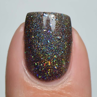 black holographic nail polish