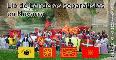 Lío de banderas separatistas en Navarra