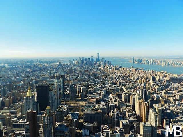 vista di New York dall'Empire State Building