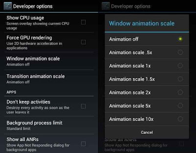 Disable Your Device Animations To Increase Your Performance Speed