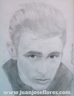 retrato lapiz james dean portrait pencil