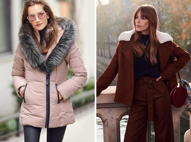 Зимний пуховик и короткое пальто для фигуры груша