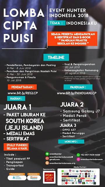 Lomba Cipta Puisi Event Hunter Indonesia 2018
