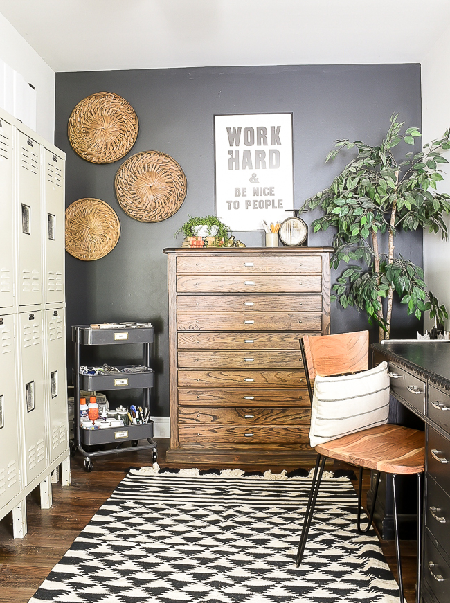 Modern industrial farmhouse office