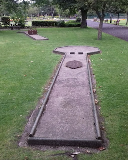 Lowther Gardens Crazy Golf course in Lytham
