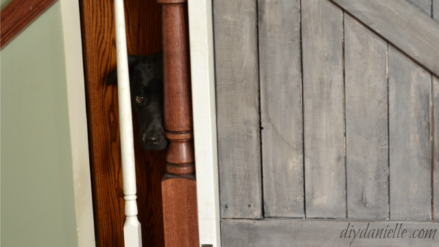 DIY Farmhouse Style Pet Gate