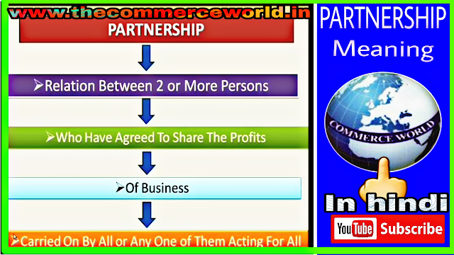 Partnership meaning-Hindi me