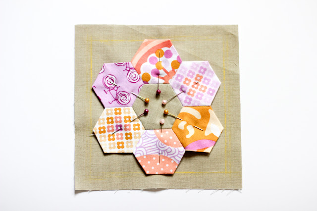 Hexagon Ring Pincushion Tutorial - In Color Order