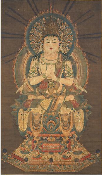密教の仏であり宇宙の真理を表す大日如来の座った像