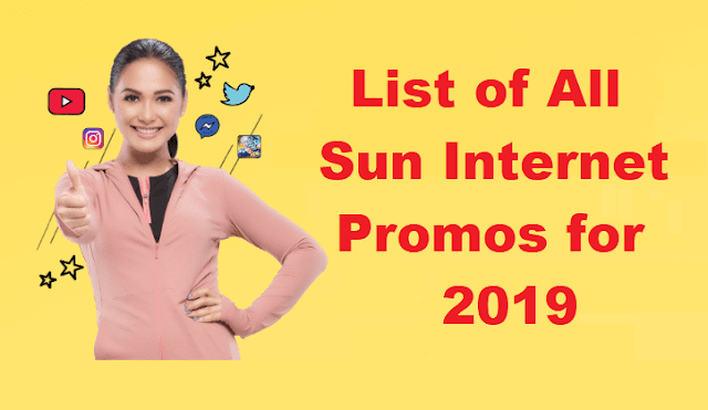 Complete List of Sun Cellular Internet Promos for 2019