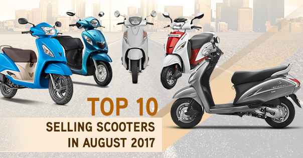 Top Selling Scooters in August, 2017