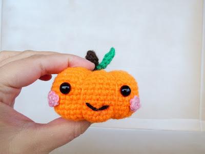 crochet amigurumi little halloween pumpkin