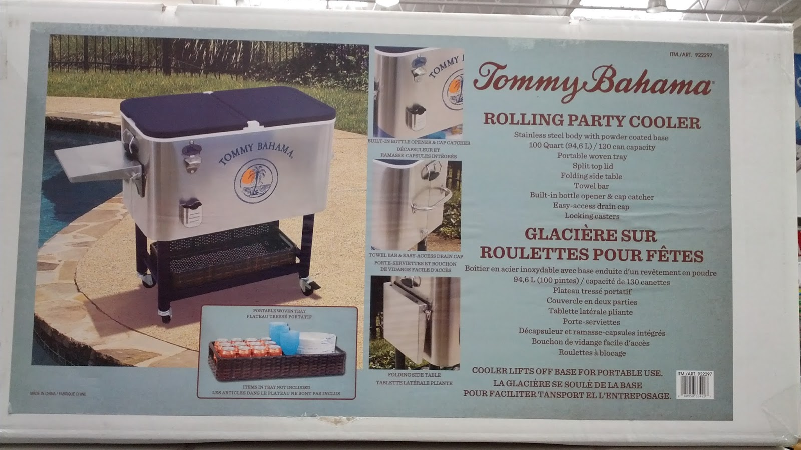 Wheels Cooler Tommy Bahama